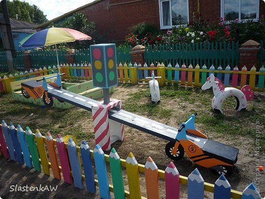 Как своими руками украсить детскую площадку