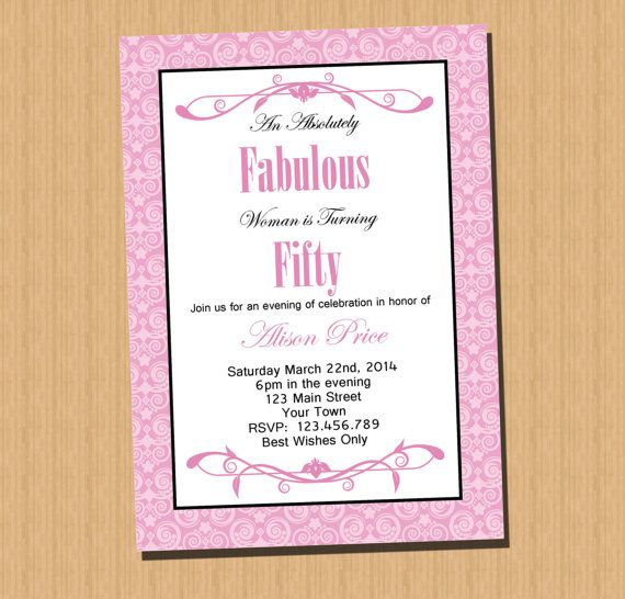 50th birthday invitation printable by perfectcelebrations on etsy 8