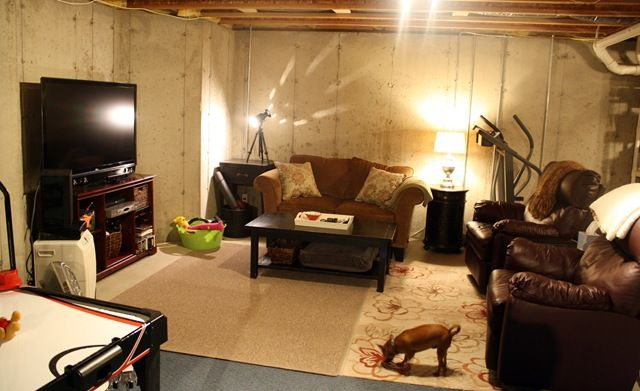Pin by dr linda welker on diy unfinished basement decorating pinte - Unfinished basement design ...