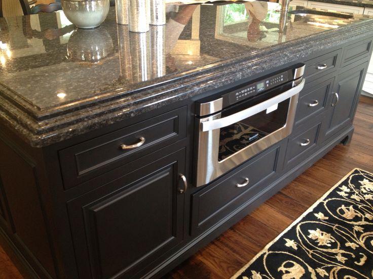 Charcoal gray kitchen island