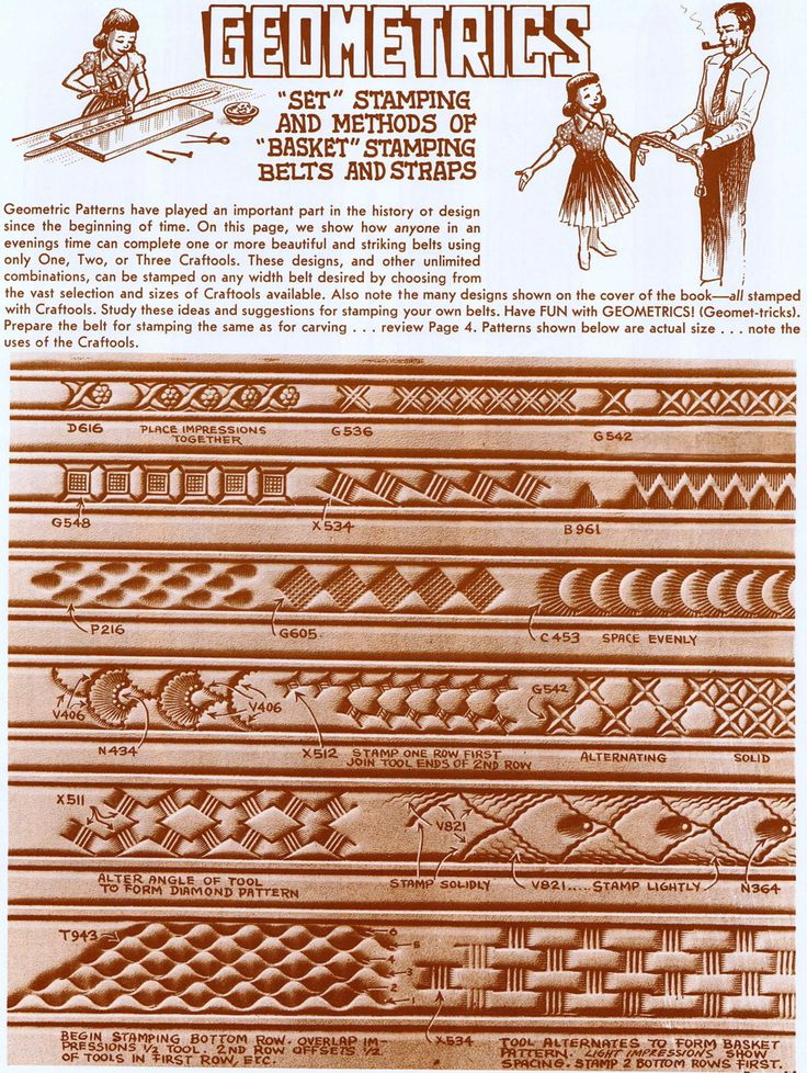 Oak leaf leather carving pattern
