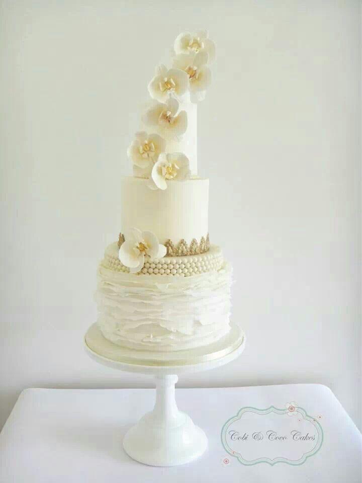 orchid wedding cake cake ideas wedding cakes pinterest