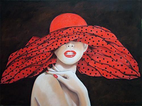 Polkadot Hat-Margaret Zita Coughlan