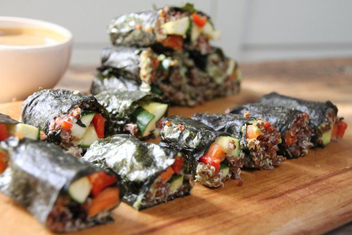 Quinoa sushi rolls - Naturally Sassy | Yummy scrummies | Pinterest