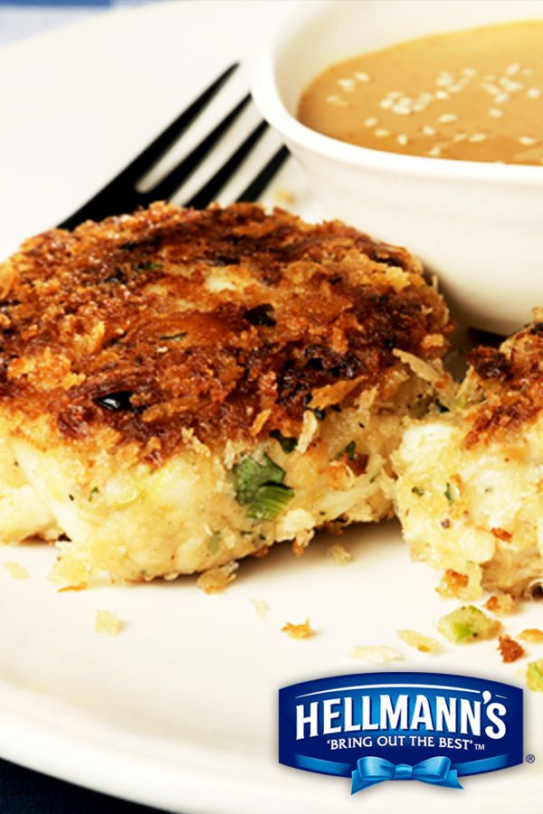 Homemade crab cakes? Simple. Hellmann's Mayonnaise with Olive Oil ...