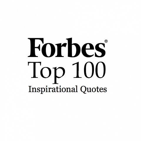 Forbes Top 100 Inspirational Quotes No Library Card