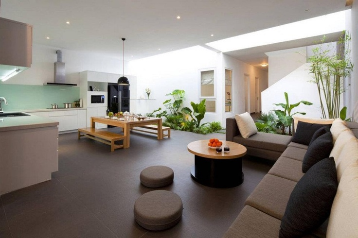 Open space living room kitchen kitchen pinterest for Teng yong interior design decoration