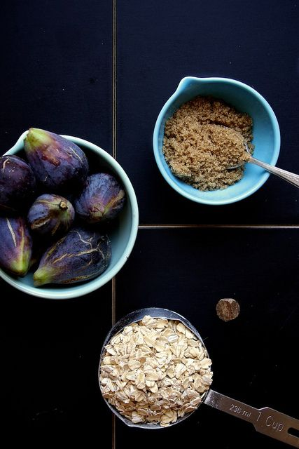 Brown Sugar Roasted Fig Oatmeal by joy the baker. Beautiful colours in ...