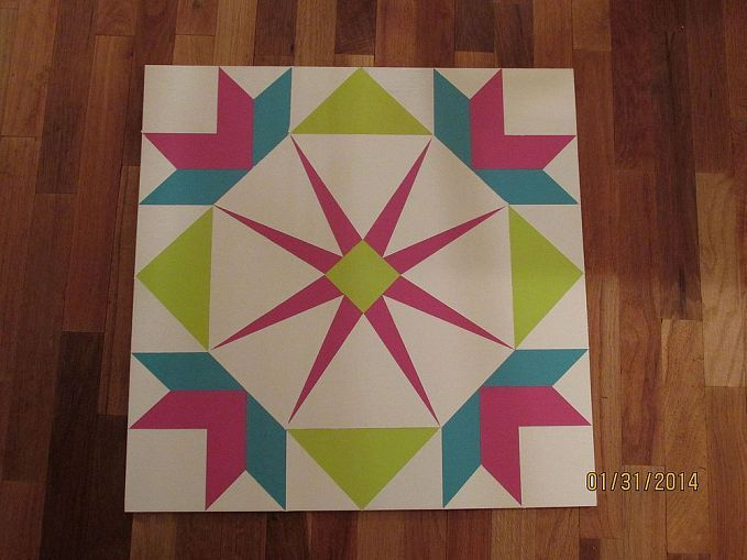 Painting a barn quilt for your garden shed for Garden shed quilting