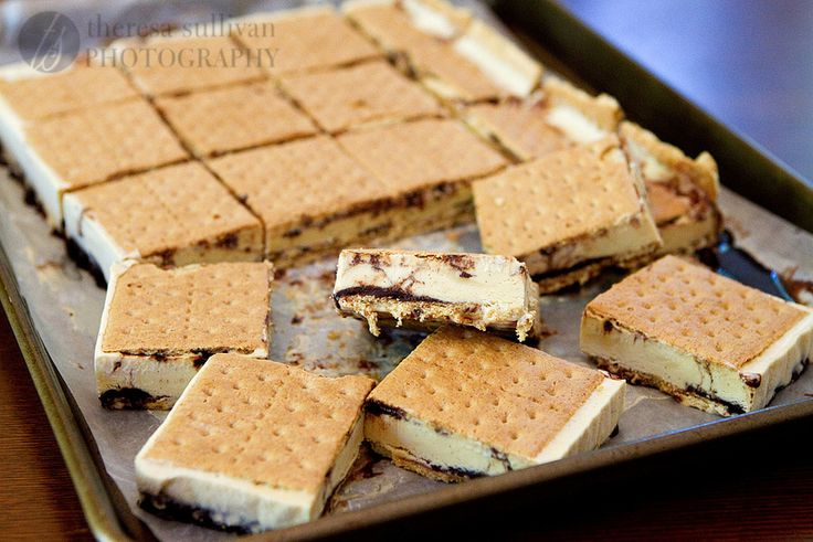 mores Ice Cream Sandwiches. | frozen treats. | Pinterest