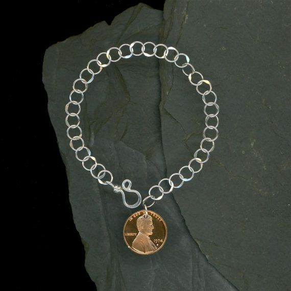 ... Birthday Gift 40th Anniversary Gift Coin Sterling Silver Chain Jewelry
