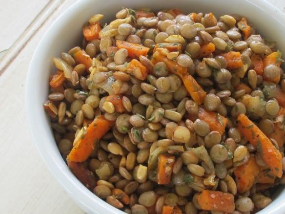lentil & roasted carrot salad   Food I want to make   Pinterest