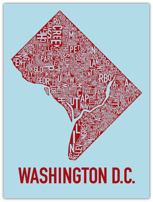 Washington DC neighborhood map oh the places I will go Pinterest