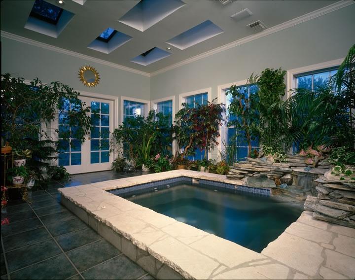 Indoor Sauna And Greenhouse Pool Pinterest