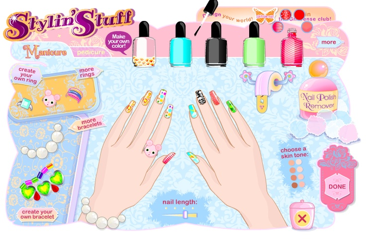 Nail Art Decoration Games | Nail Design Games | Pinterest