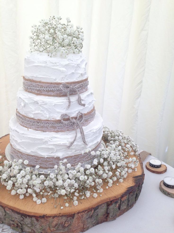 Wedding Cakes Decorated With Wheat And Lavender