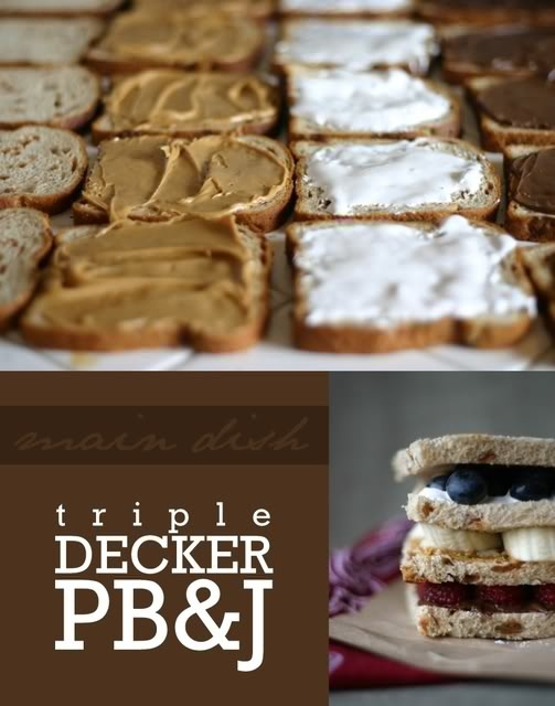 Triple Decker Peanut Butter Squares Recipe — Dishmaps