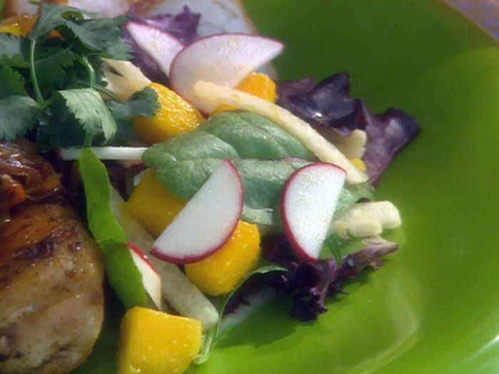 Mango, Jicama and Radish Salad with Peanut Dressing from FoodNetwork ...
