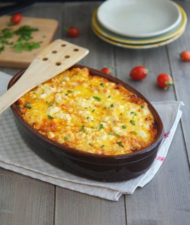 Roasted Cauliflower, Tomato and Goat Cheese Casserole | Healthy ...