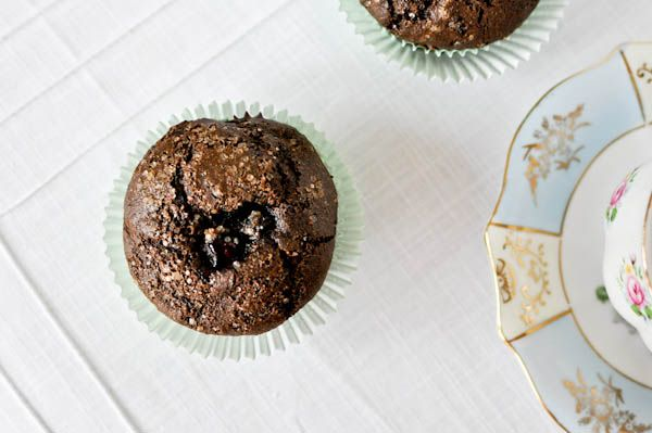 "Blueberry chocolate muffins from ""How Sweet It Is"" blog. Making the..."