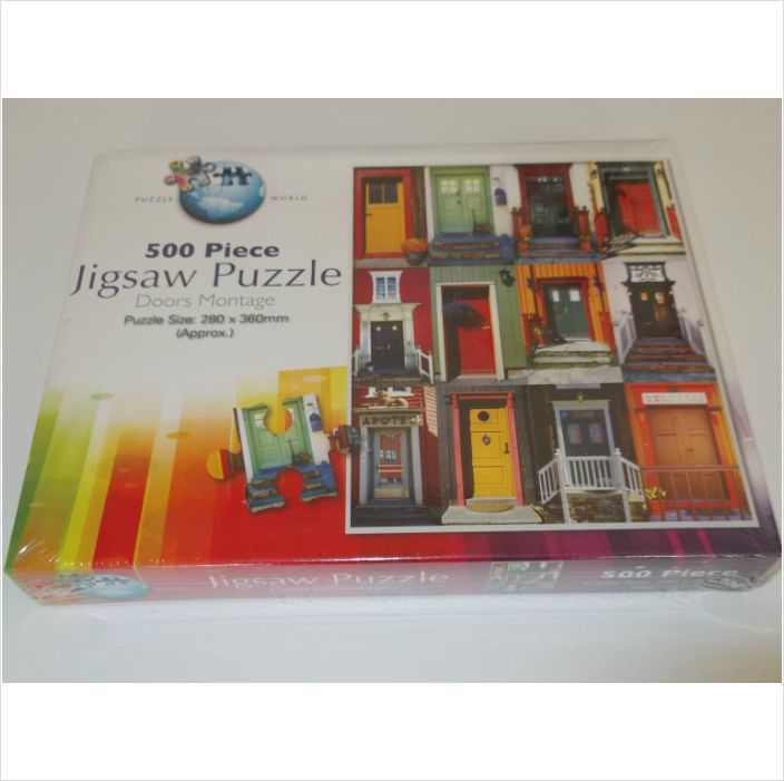 Doors montage 500 piece jigsaw puzzle brand new sealed 5025066046859