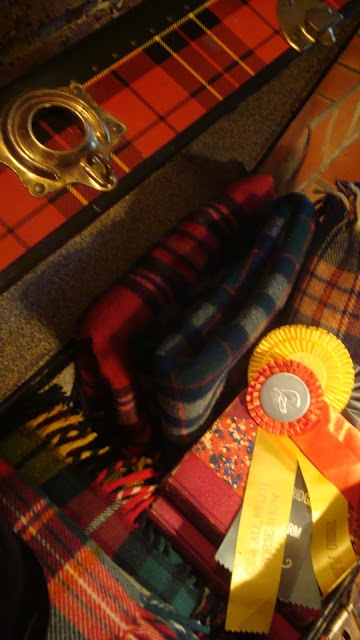The Polohouse blog  Tartan trunk filled with plaid lap blankets