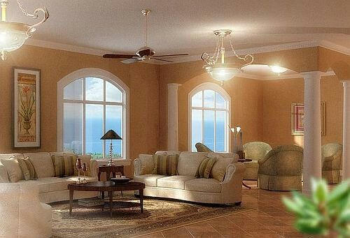 Living room with columns pillars living rooms columns for Pictures of columns in living room