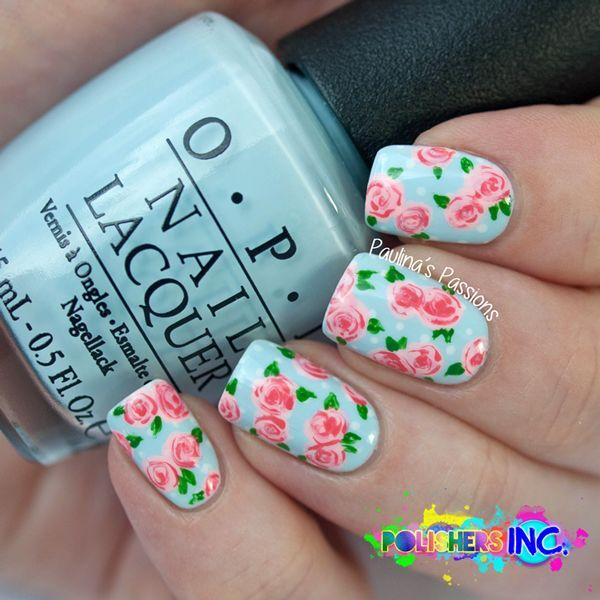 Rose-Nail-Art | Esinam Nails | Pinterest