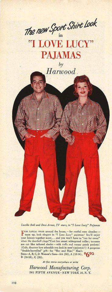 I Love Lucy pajamas