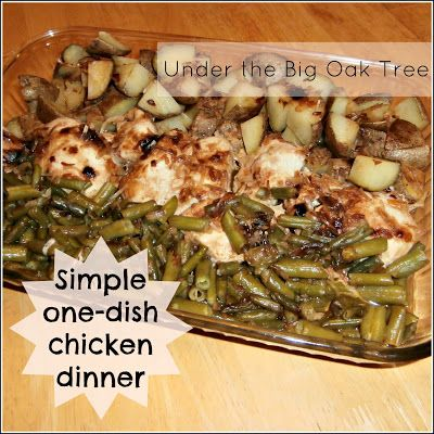 ... One-Dish Chicken Dinner---Just did chicken and potatoes & all liked