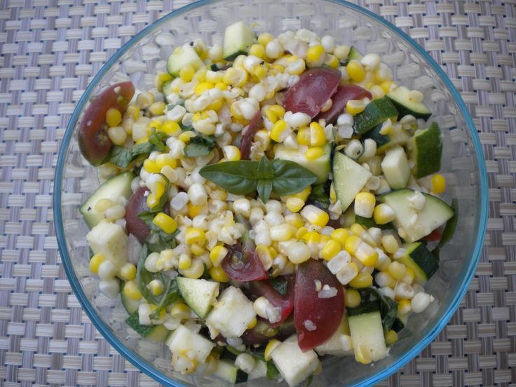 Fresh Corn, Zucchini And Tomato Salad Recipes — Dishmaps