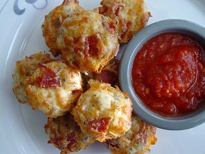 Pepperoni Pizza Puffs - only bake for 15min