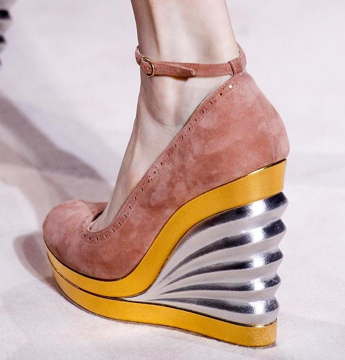 Fantastic. Yves Saint Laurent wedges.