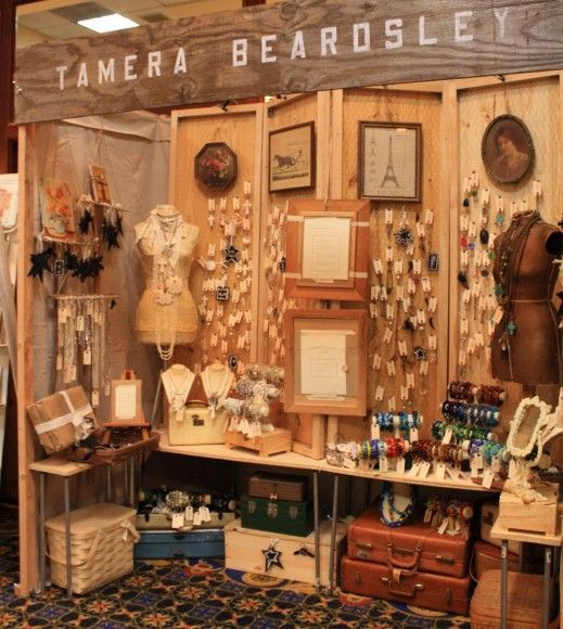 Flea market booth display ideas car interior design for Display walls for art shows