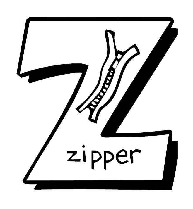 Coloring Pages Zipper : Zipper coloring page pages