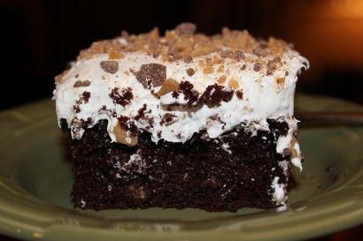 Chocolate Caramel Crunch Cake | Recipe