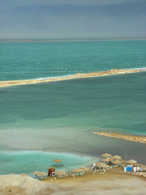 Dead Sea.  Jordan...can't wait to sit and read a book while floating in the sea :)