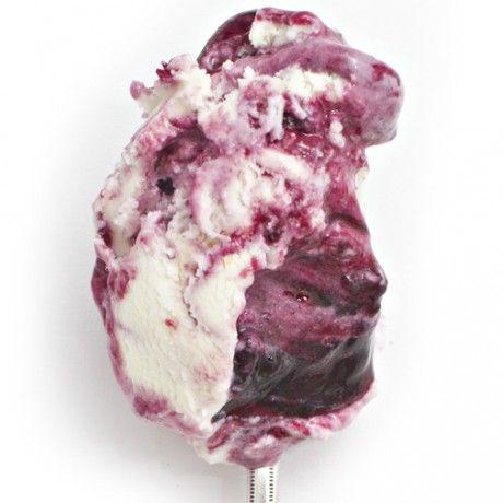 Sweetcorn and black raspberry ice cream from Jeni's