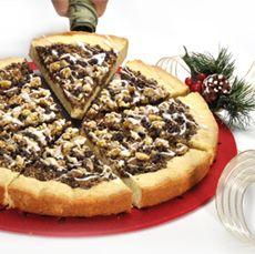 Chocolate Walnut Cookie Pie