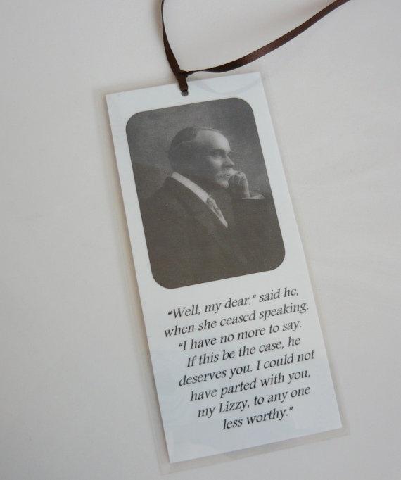 Jane Austen Bookmark  Mr Bennet  Pride and Prejudice by wordlove, $3.00