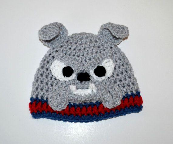 Free Pattern For Crochet Bulldog : Bulldog Crochet Beanie / Hat