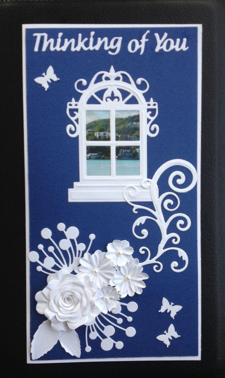 Spellbinders window die sympathy card
