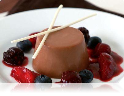 Milk Chocolate and Cardamon Panna Cotta   Chocolate..♥..   Pinterest
