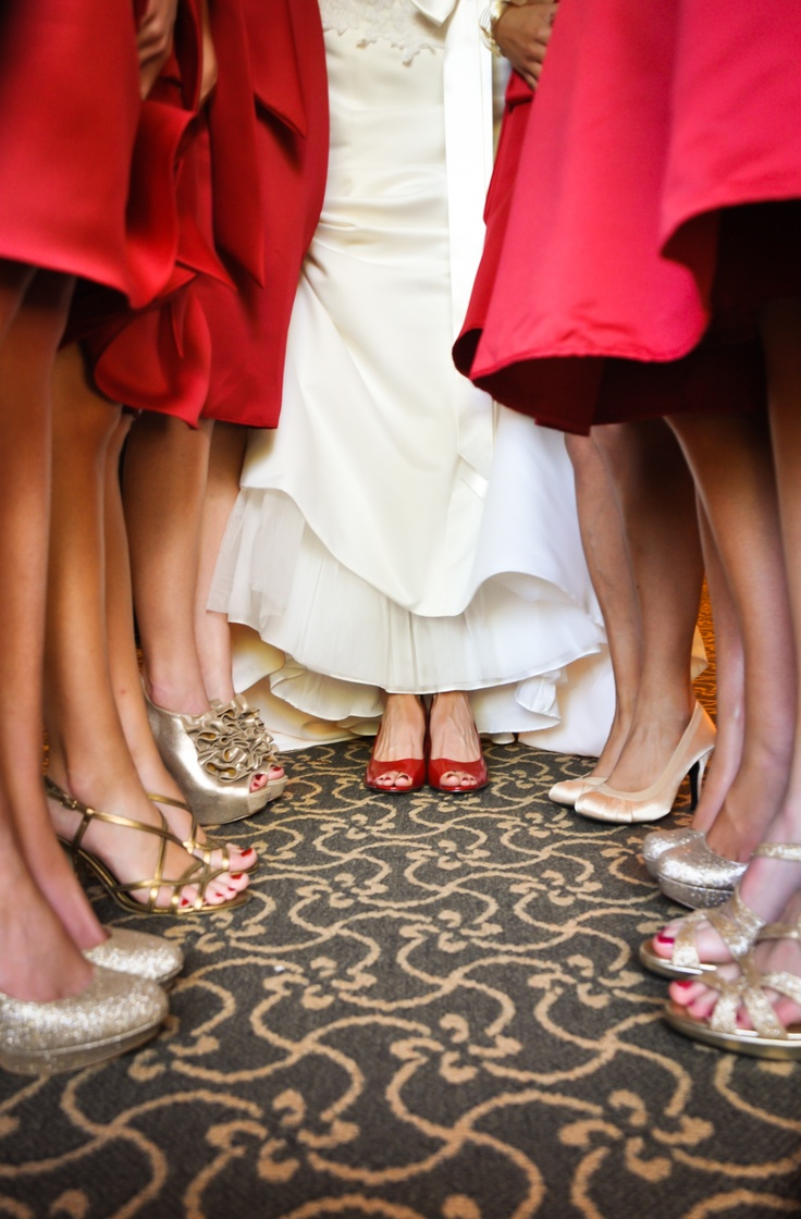 I think a must have wedding pic for shoe lovers :)