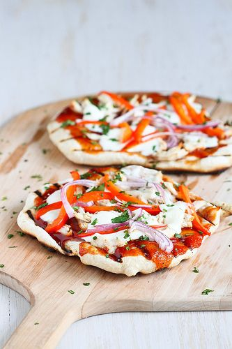 Smoky Grilled Barbecue Chicken Pizza | Food - Main Courses | Pinterest