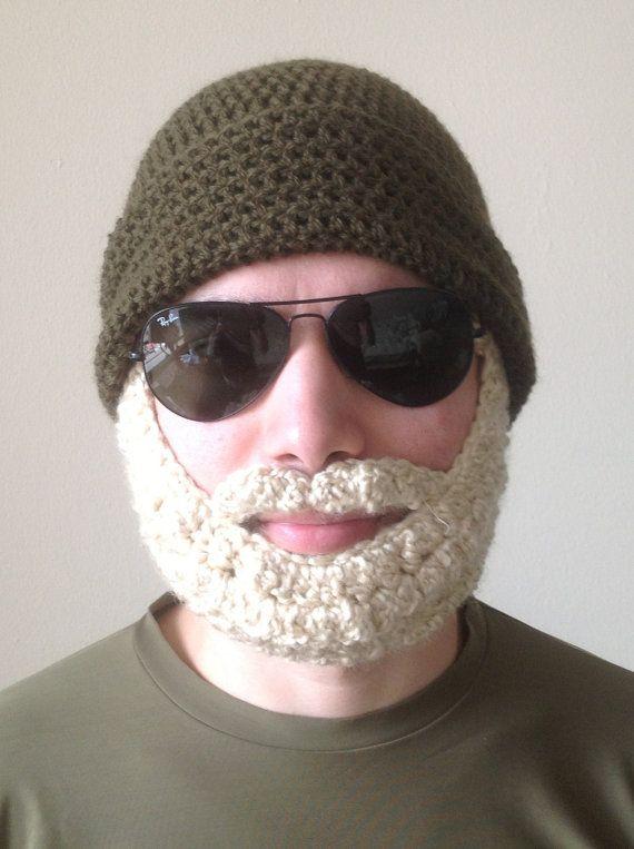 Crochet Pattern Mustache Hat : The Easiest Crochet PATTERN Beard Hat PATTERN Beanie Santa ...
