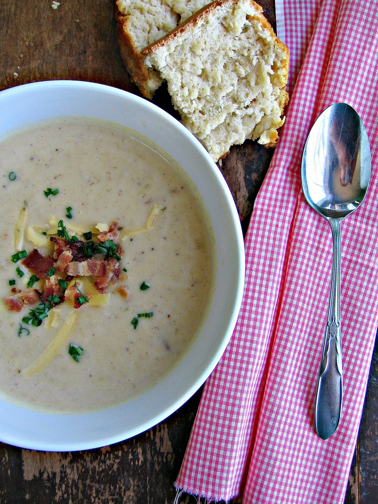 Bacon, Potato & Leek Soup: So good. Added extra cayenne. Threw some ...