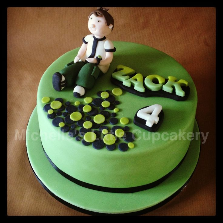 My son s #Ben10 4th birthday cake! My Cakes Pinterest