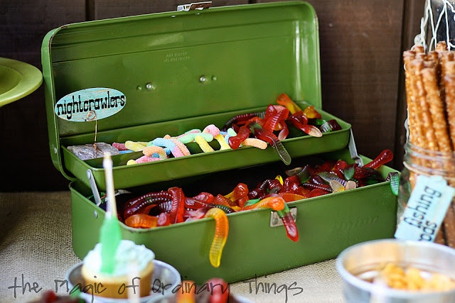 Kids fishing theme party awesome ideas jessica pinterest for Fishing theme party ideas