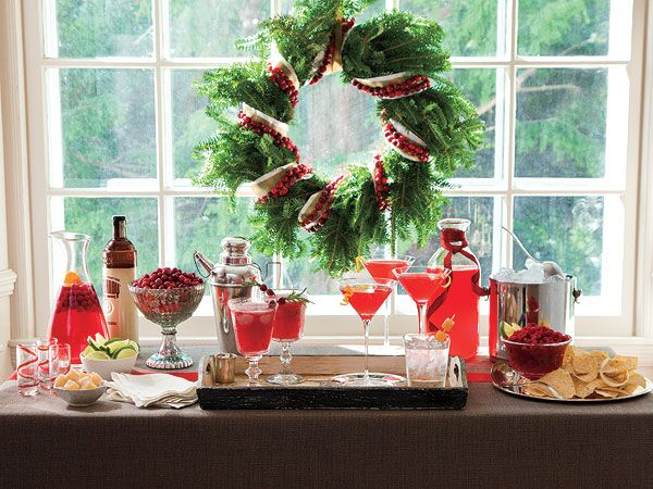 Christmas Cocktail Table Decorations Photograph Holiday Co